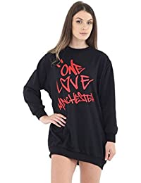 Momo&Ayat Fashions Damen Mädchen eine Liebe Manchester Sweatshirt T-Shirt EUR Größe 36-44