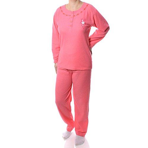 BEZLIT Damen 2 Teiliger Pyjama Schlafanzug Hose Pullover Nachtwäsche Nachthemd 21576, Farbe:Rosa, Größe:XL (Nachtwäsche Pullover)