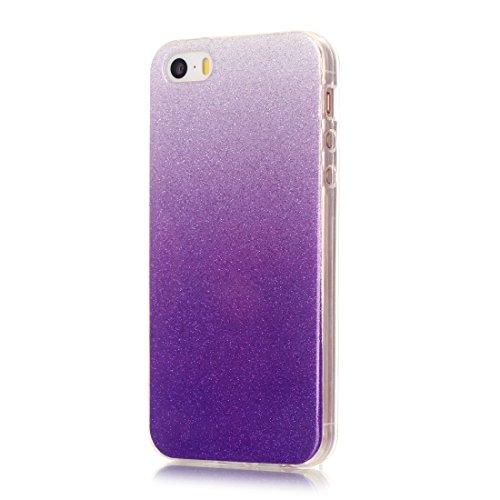 Wkae Case & Cover Pour iPhone 5 &5s &SE Housse de protection TPU IMD Couleur Fades Glitter Powder ( SKU : IP5G9966L ) IP5G9966M
