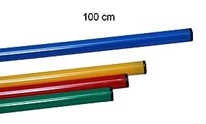 agility sport pour chiens - jalon, longueur 100 cm, Ø 25 mm, bleu - 1x 100b