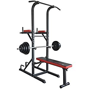 Trainhard multistation banc de musculation traction - Banc de musculation avec barre de traction ...
