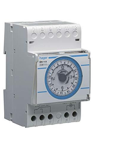 Hager EH111 - Interruptor horario diaria con reserva 200h conmutado 16a