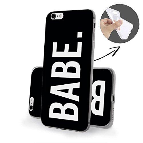 finoo | iPhone 6 und 6S Weiche flexible Silikon-Handy-Hülle | Transparente TPU Cover Schale mit Motiv | Tasche Case Etui mit Ultra Slim Rundum-schutz | Queen Babe Black