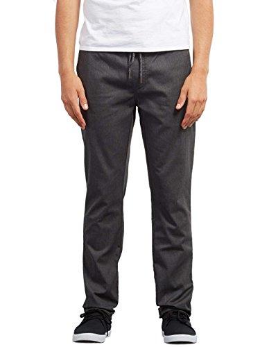 Volcom Frckn Comfort Chino Pantalones, Hombre, Gris (Charcoal Heather), L