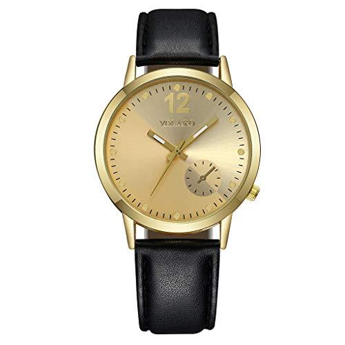 Likecrazy Damen Quarz Uhr Einfach Casual Armbanduhr Luxuriöse Business Leder Gürtel Uhrenarmband Uhrn Elegante Wasserdichte Lederband Klassik Mode Damenuhr -
