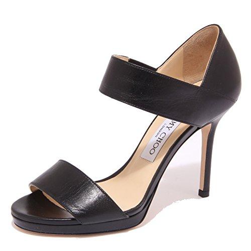 0973Q sandalo JIMMY CHOO ALANA nero scarpa donna sandal woman [40]