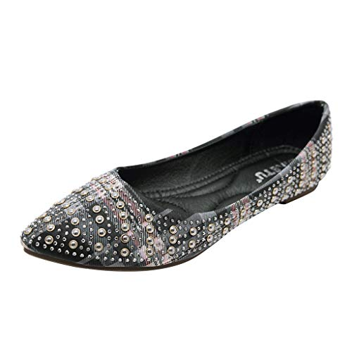 classic fit 74e15 ce6e4 Makefortune 2019 Damen Sandals, Frauen Sandalen weiche untere Schuhe Strass  böhmische Flache einzelne Sommerschuhe Sandaletten
