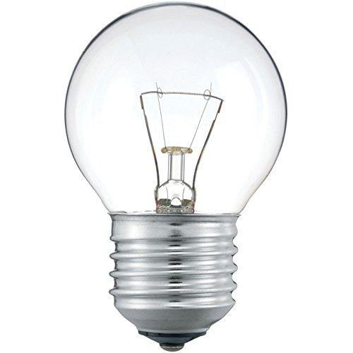 Philips 30600021 E Glühlampe Tropfenform, 10-er, Glas, 40 watts, E27, klar, 4,49 x 4,49 x 7,175 cm -