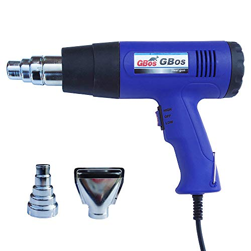LIDAUTO Elektrische Heißluftpistole Industrial Temperaturregler Wärme LCD Bildschirm Wärmekraftwerkzeug 1600W-1000W 110-220V,Blue,220V (Fön Pistole)