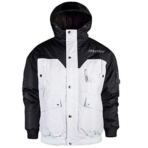 Amstaff Conex Winterjacke - schwarz/weiß L