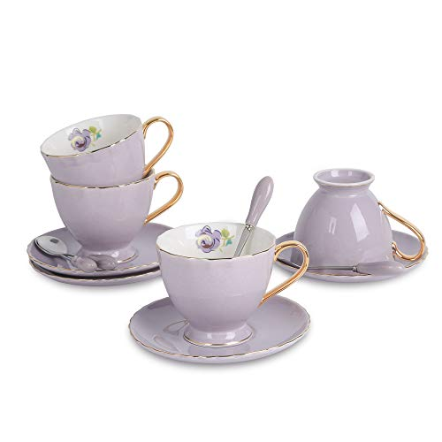 Artvigor, Porzellan Kaffeeservice, 12 tlg. Kaffeetassen Set, Beinhaltet Kaffeetassen, Untertassen...