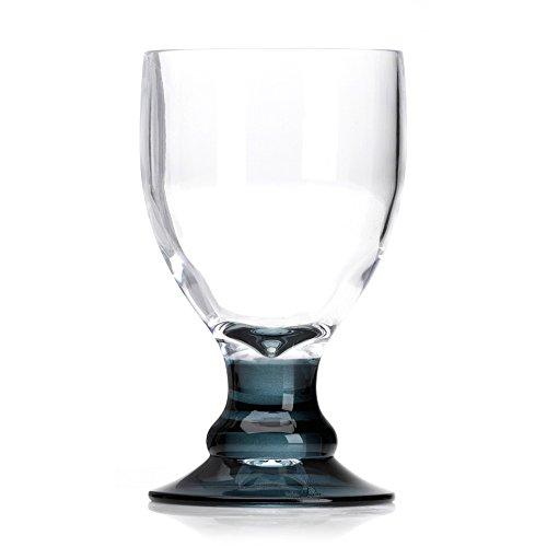 Flamefield Bella Verres à vin en acrylique fumé oz/400 ml – Lot de 4 | résistant à la casse, Verres en Acrylique de qualité supérieure