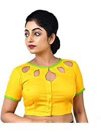 3ebaca2015cb96 Fashion Offbeat Women's Yellow Cotton Blouse,Short sleeves,Casual  wear,Designer blouse,