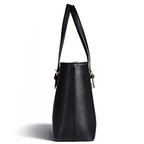 Borsa A Tracolla Tote Bag Donna Elegante Borsa Shopper Borsa In Pelle PU Borsa Donna A Mano Black