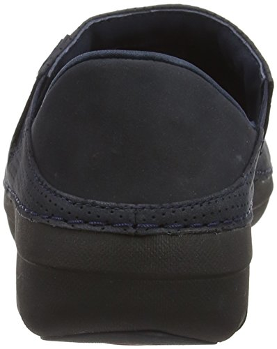 FitFlop Damen Superloafer Nubuck Slipper Blue (supernavy)