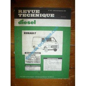 RTD0122D RENAULT TRAFIC T800D - T1000D - T1200D - P1000D - P1200D - P1400D Traction avant et propulsion arriere