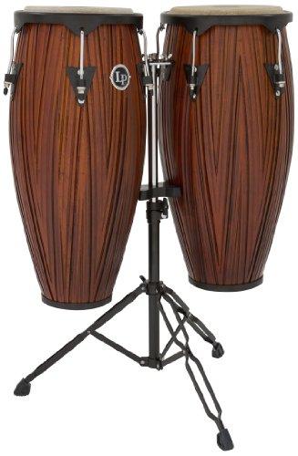 Latin Percussion lp646nycmw LP City Holz 25,4cm/27,9cm Conga-Set mit Ständer, mango Holz (Lp Conga-trommeln)