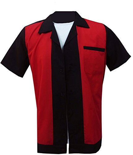 1950s/1960s Rockabilly ,Bowling, Retro, Vintage Men's Shirt (Medium) (Herren-vintage-bowling-shirt)