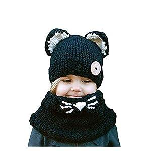 Bufandas del Bebé, Gorros Bebe Invierno Niño Niña Sombrero + Bufanda Punto 8
