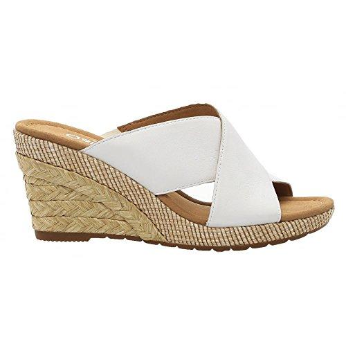 Gabor Wedged Slip On Sandal - Purpose 82.829 7.5 White