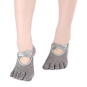 BSD Fußabdeckung Yoga Socken Ballett kreuzüberzogener rückenfreier Rutschfester Handlauf für Frauen