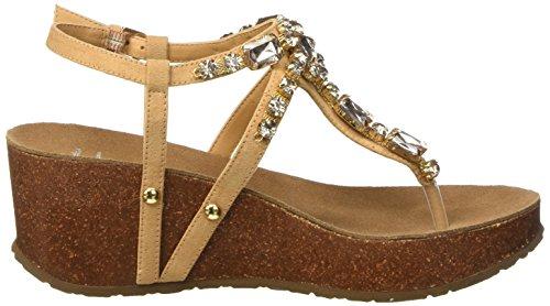 Bata 6698214, Chaussures À Talons En T Beige Pour Femmes Avec Sangle En T