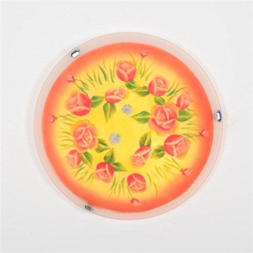 Uncle Sam LI - Pastoral méditerranéenne créative roses peints plafond lampes enfants chambre à coucher décoration lampes