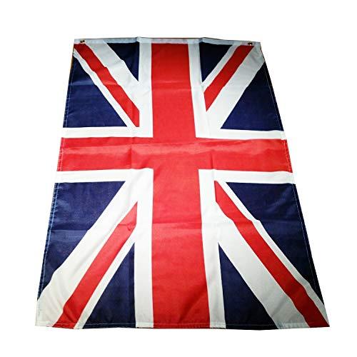 My London Souvenirs - Bandiera del Regno Unito, 150 x 90 cm ca., per interni ed esterni, provvista di 2 occhielli, confezione di alta qualità, versatile, elegante e da collezione