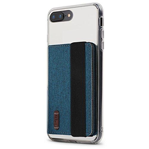 Ringke Flip Handy Kartenhülle 3M Klebstoff mit Gummiband [Blue Green] Geldbörse Portmonee für Minimalisten 3M Befestigung Kartenhülle für Galaxy S8, S8 Plus, Note 9, iPhone X, Xs Max, Xr, Huawei Usw -