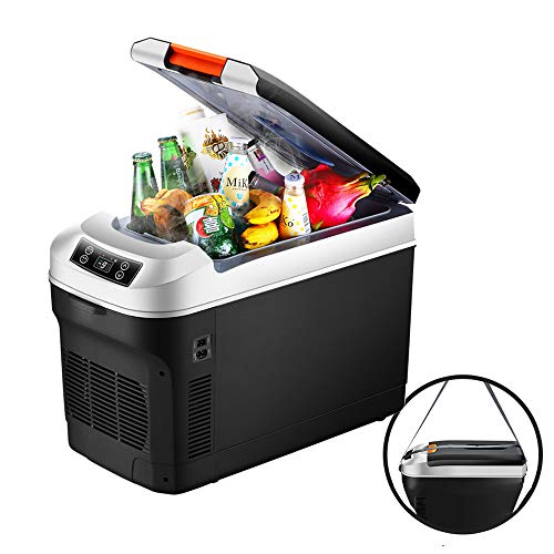 Saturey Thermo-Elektrische Kühlbox, Mini-Kühlschrank Für Auto, LKW Und Steckdose 12V&220V, Auto Camping Outdoor,12L