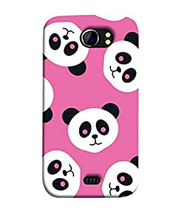 PrintVisa Designer Back Case Cover for Micromax Canvas 2 A110Q :: Micromax A110Q Canvas 2 Plus :: Micromax Canvas 2 A110 (Animal Art Bear Flat Cheerful China Beautiful Colors)