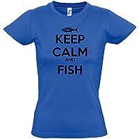 Kruskis 11502241MS086 Camiseta de Pesca, Mujer, Azul Royal, M