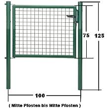 GAH Wellengitter-Tor grün Höhe 75cm x Breite 100cm