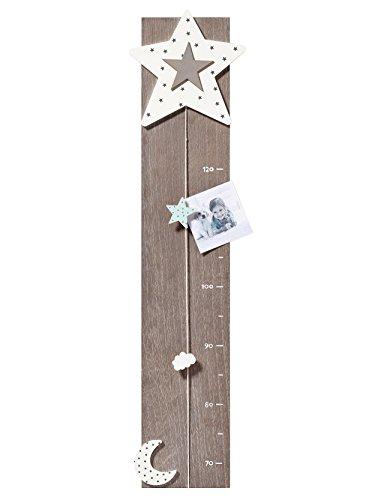 walther design MB200M Messlatte Starlet Dekoartikel, Holz, grau, 20 x 2,5 x 80 cm