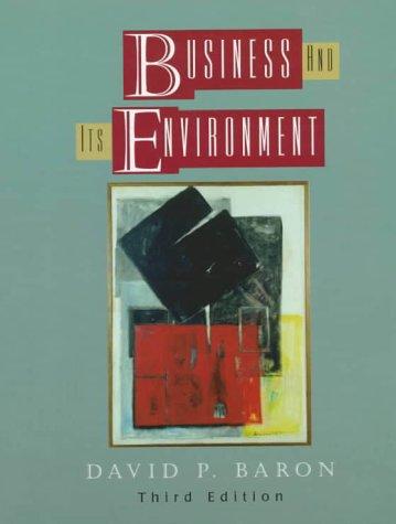 Business and Its Environment por David P. Baron