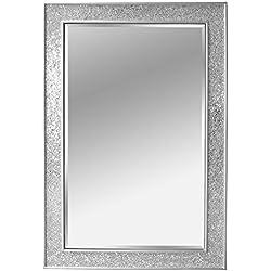 Espejos de madera m s de 20 modelos en tododemadera shop for Espejo plateado grande