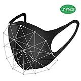 HXHDBAO Herbruikbaar Wasbaar Outdoor Anti-Dust Windpoof Winter Masker Ademhaling Anti-Vervuiling Bescherm Unisex Katoen Mask-3 Stks