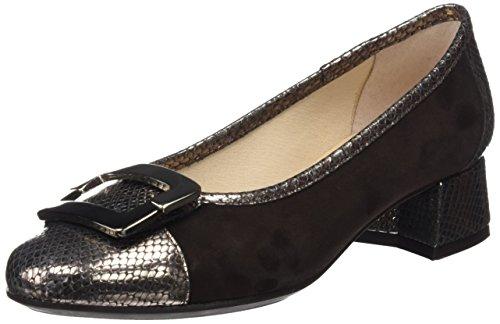 DCHICAS Damen 4328 Geschlossene Schuhe mit Absatz Braun (Espresso Moka)
