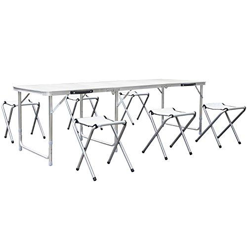 Table et chaise pique nique pliante le classement des - Table camping buffet traiteur pliante portable ...