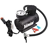 BRAHMANI CREATION Electric Air Compressor Inflator Pump for car, Bike, tubeless tyre. 12V 300 PSI air Pump for Bicycle, Football, Basketball