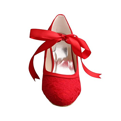 Wedopus , Mary Janes pour femme red