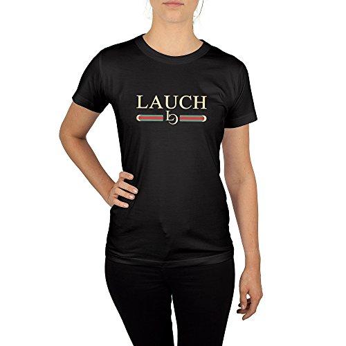 t mit Aufdruck in Schwarz Gr. S Lauch Gang Member Design Girl Top Mädchen Shirt Damen Basic 100% Baumwolle Kurzarm (Hipster Girl Kostüm)