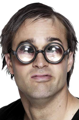 Opa Bis Kostüm - Vergrößere Deine Augen Brille Schwarz, One Size