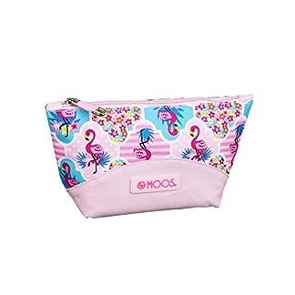 Moos  Flamingo Pink Oficial Mochila Escolar Infantil Porta Maquillaje 230x80x120mm