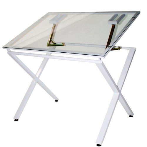 Martin X-Factor Zeichnen und Hobby Tisch mit großen 30von 107cm Glas Top