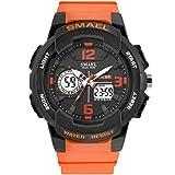 SMAEL Männer-Sport-Wrist Beobachten Quartz Dual Movement Analog-Digital Displa