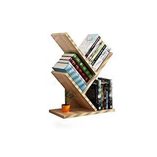 Zfggd Tree Bookshelf Book Rack Display Storage Organizer Bookcase For CDs, Movies & Books Holder (Color : #2)