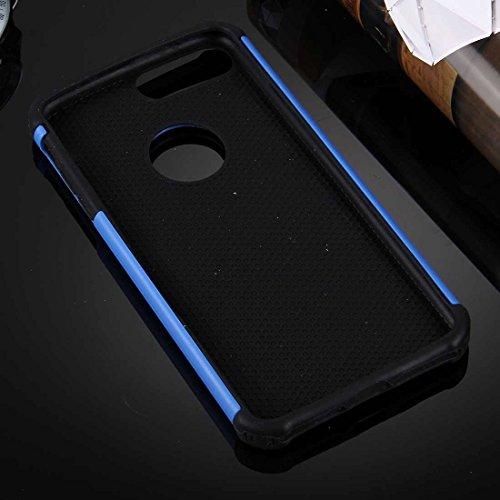 YAN Für iPhone 7 Plus Ball Texture Separate TPU + PC Schock-resistenten Kombination Fall ( Color : White ) Dark Blue
