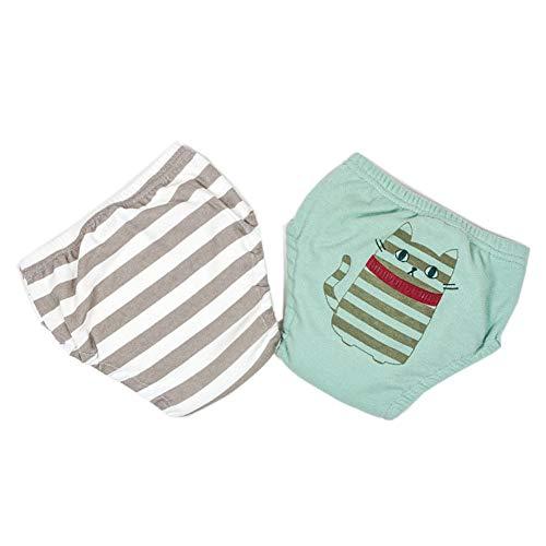 WJY sous-Vêtements Bébé Garçon Couche en Tissu pour Garçon Coton Gaze Pure Pantalon D'entraînement Couleur Unie Lavable Couche Lavable,S