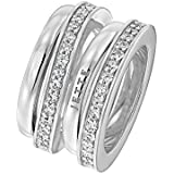 JETTE Silver Damen-Ring FLOW 925er Silber 58 Zirkonia (silber)